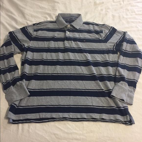 9c7c576b0 Tommy Hilfiger Long Sleeve Polo Shirt Men's Large.  M_5b50257dbf77299535c252dc